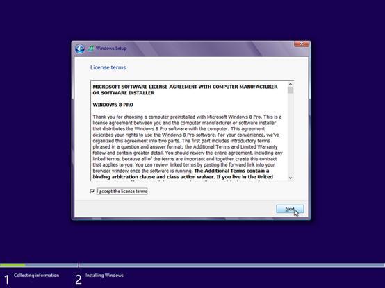 windows 8 upgrade install