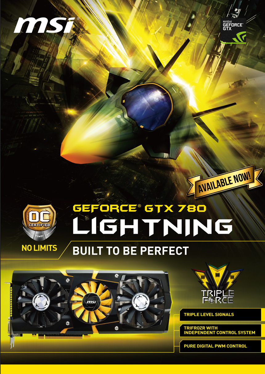 Built To Be Perfect Msi N780 Lightning Available Now
